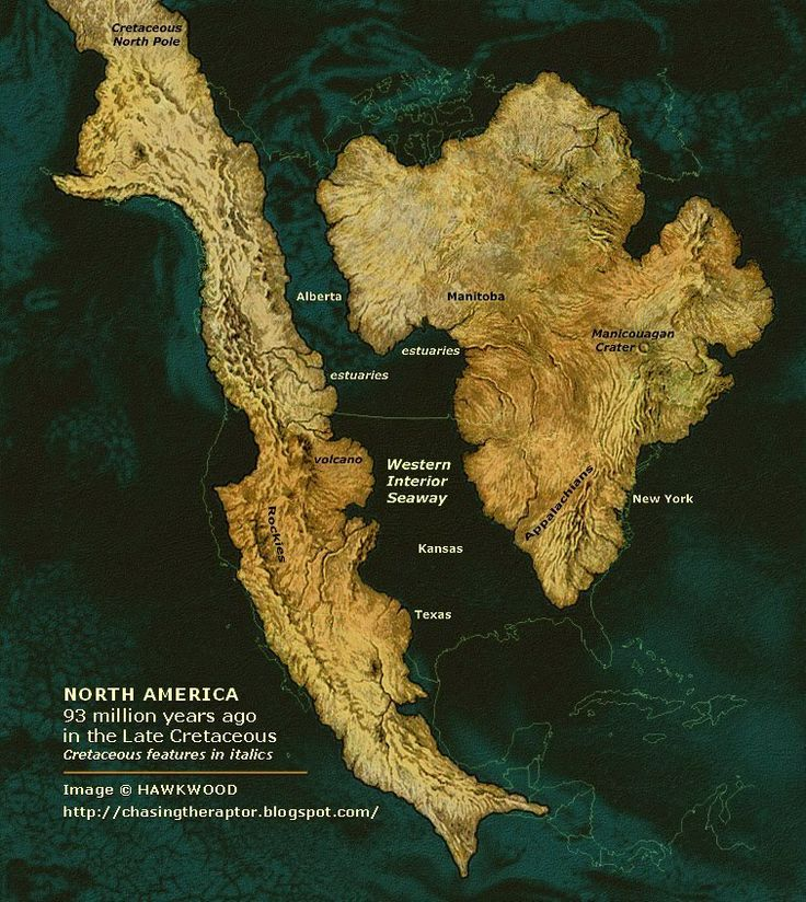 Late Cretaceous of North America showing the