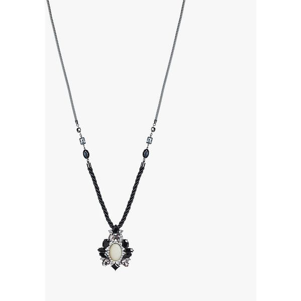 Avenue Medallion Pendant Necklace ($16) ❤ liked on Polyvore featuring jewelry, necklaces, black, plus size, pendant necklace, avenue jewelry, imitation jewelry, imitation jewellery and adjustable rope necklace