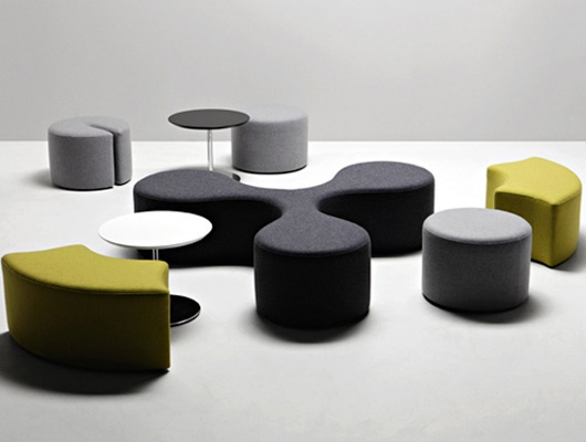 Round Small Upholstered Ottoman