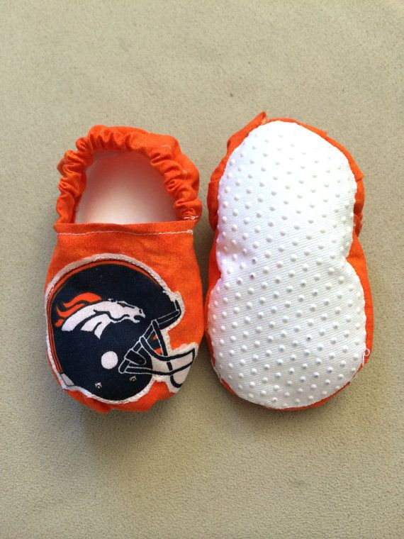 Denver Broncos baby shoes Denver Broncos baby booties by BabyBrays