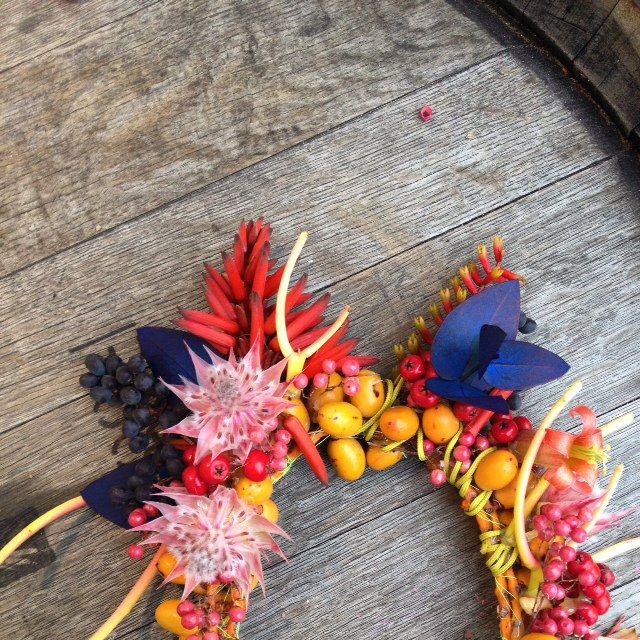 Frida Kahlo inspired floral head piece