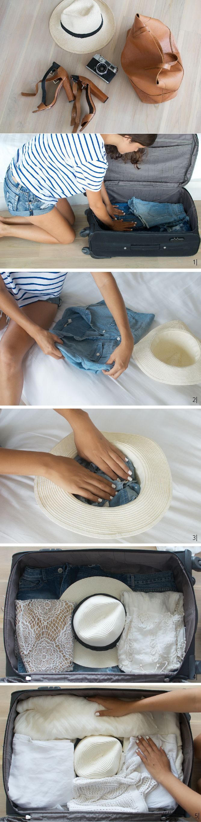 DIY How to packing a Hat in Hand Luggage #packing #diy #DIYMakeIt http://diymakeit.com/diy-how-to-packing-hat-in-hand-luggage/