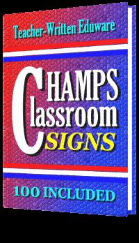 FREE DOWNLOAD!  CHAMPs Classroom Management: 100 Behavioral Expectations Signs