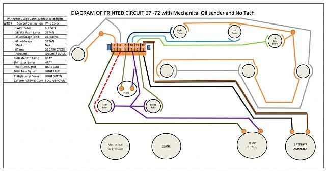 printed circuit diagram     67 72chevytrucks com  vboard