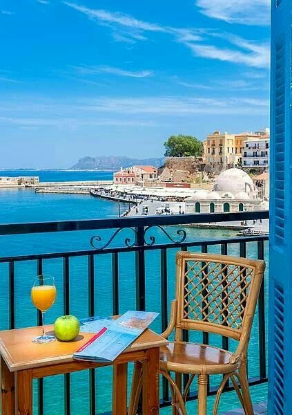 View on Chania old Town, Crete, Greece #crete #yoga #greece www.yoga-escapes.com