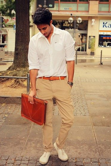 GOLDEN CLASS (by Sami Slimani) - Scotch Shirt, Selected Chino, Urban Outfitters Document Bag, H Shoes, Michael Kors Watch | LOOKBOOK.nu