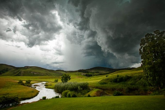 Storm in the Drakensberg, South Africa