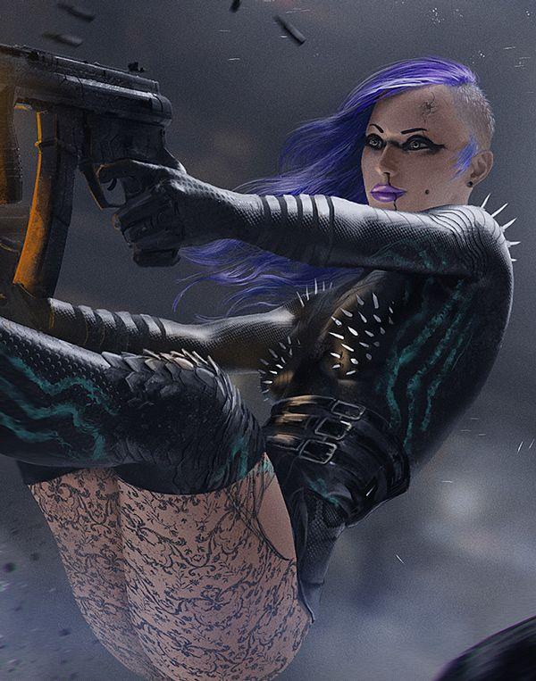 A nice looking avatar for Trinian (Shadowrun) - Illustration / Character Design on Behance