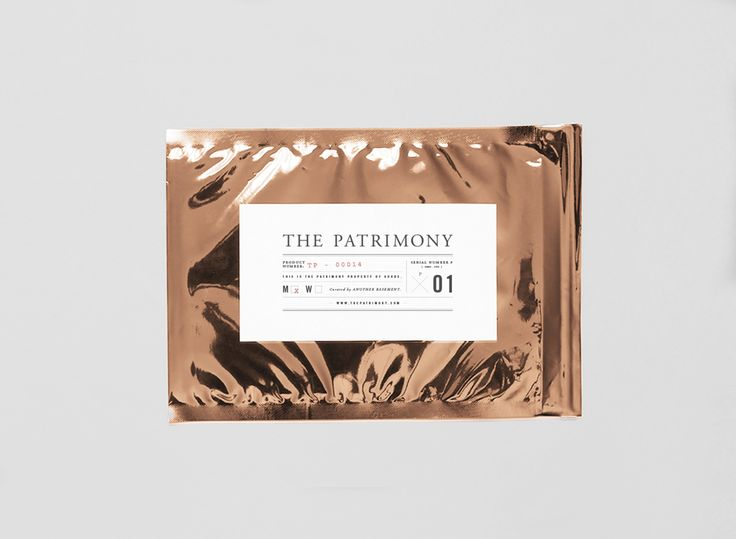 The Patrimony packaging by Object Matter Studio