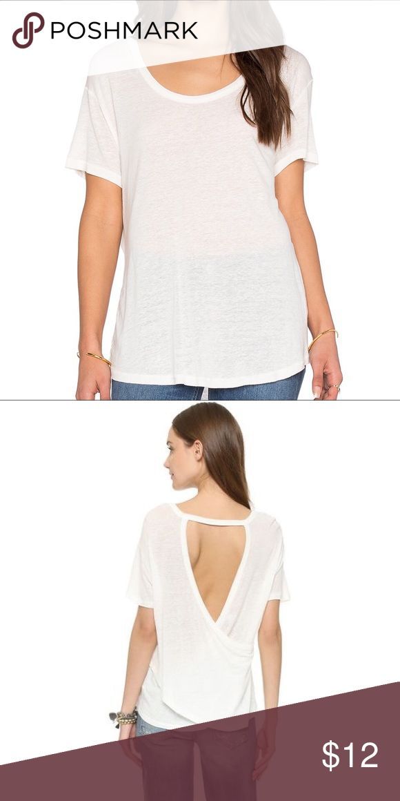 NWOT Free People Gemma Tee NWOT Free Peopel Gemma  Shirt. Color Ivory. Size small and extra small available. Same day shipping on all orders! Free People Tops