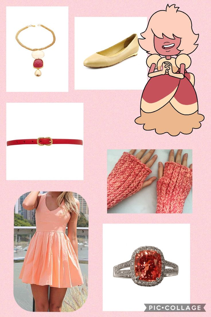 I do not own Steven Universe or any of the companies that made these clothes. This is an outfit inspired by padpardasca from Steven Universe. I made this on pic collage