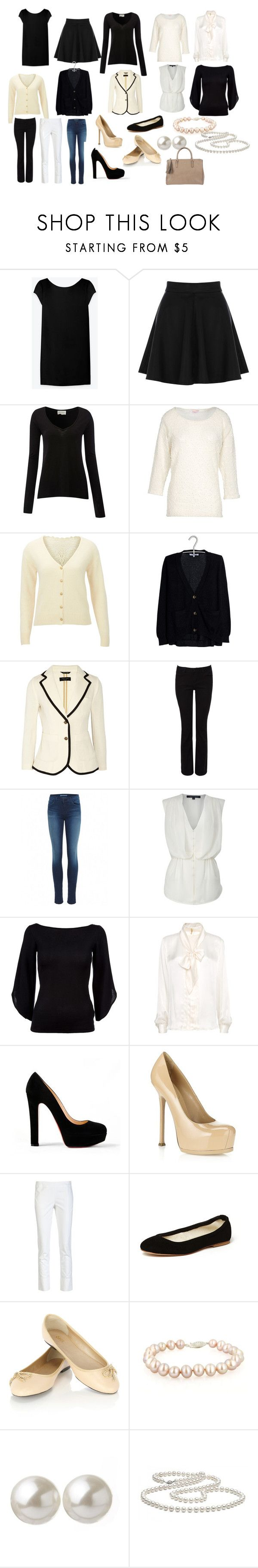 the french capsule wardrobe by tullewhimsy on Polyvore featuring Yves Saint Laurent, LARA, Ralph Lauren Black Label, American Vintage, Sandro, SELECTED, MANGO, French Connection, rag & bone and Oasis