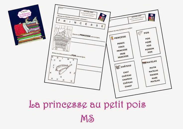 Fiches de travail MS - La princesse au petit pois mapetitematernelle