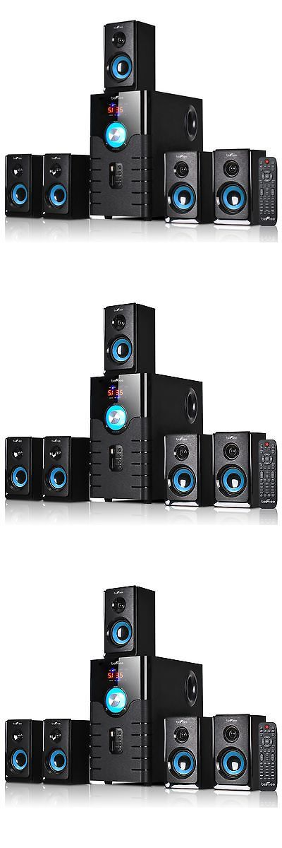 Home Theater Systems: Home Theater Sound System Dvd Mp3 Player Video Game 5 Surround Speakers 5.1 Chan -> BUY IT NOW ONLY: $147.9 on eBay!