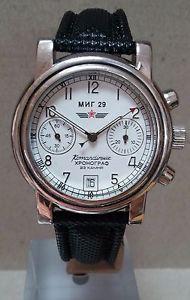 Russian Poljot MIG 29 Komandirskie Chronograph Hand Winding Watch CAL 3133 | eBay