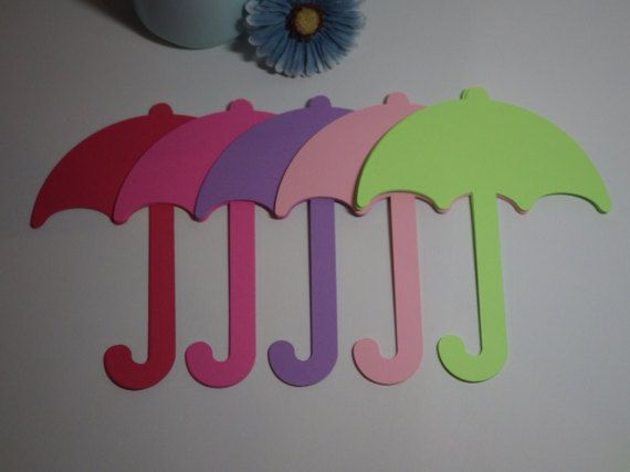 Large Umbrella Die Cuts Spring Die Cuts  30 Piece Set