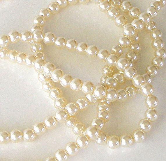 Vintage Long Pearl Necklace Opera Flapper White by retrogroovie, $18.95
