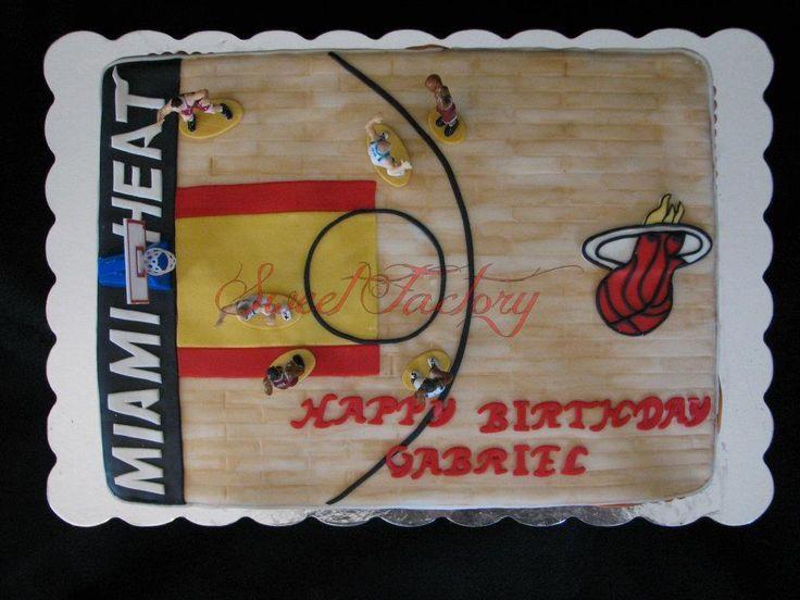 Miami Heat court cake