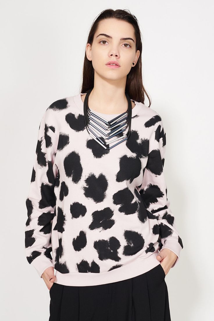 CHEAP MONDAY - SHAW SMUDGY LEOPARD SWEAT #cute #leopard #sweatshirt #women #fashion