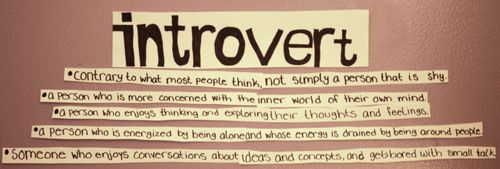 a tidy little descriptor of what people don't get -- I am NOT shy but I AM an introvert