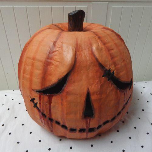 How to make a pumpkin head paper mache pumpkin pumpkins for Things to make with paper mache