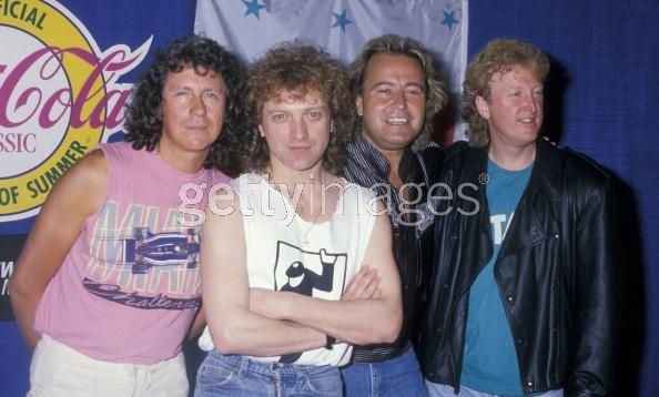 1988, Foreigner attending '40th Anniversary of Rock N' Roll Party' on May 14, 1988 at Madison Square Garden in New York City, New York. (Photo by Ron Galella, Ltd./WireImage)