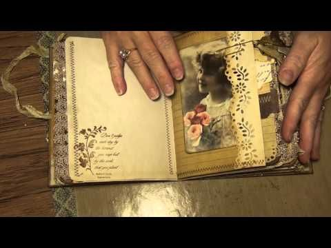 Re-purposed cake box journal (Sold) - YouTube