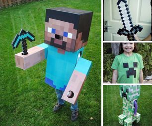 Halloween costumes for Minecraft lovers.
