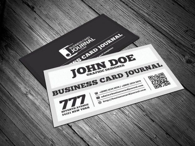 226 best business cards images on pinterest business cards carte free black white retro business card template with qr code colourmoves