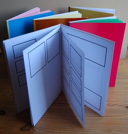 blank comic templates to print, plus comics themed music (& review of 2 great graphic novels/comics for kids and their grown ups)