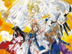 Ah! My Goddess Skuld, Belldandy, Urd, Holy Bell, & Noble Scarlett - Great anime series! love it!