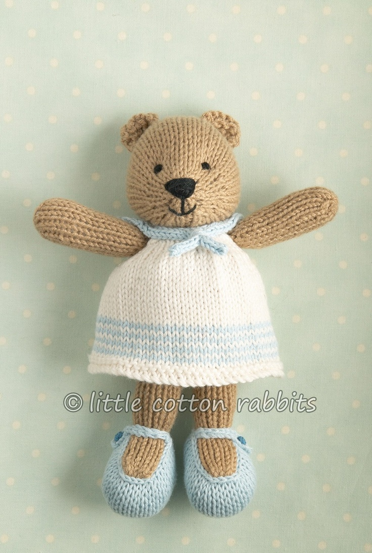 108 Best Knitted Teddy Bears Images On Pinterest Doggies