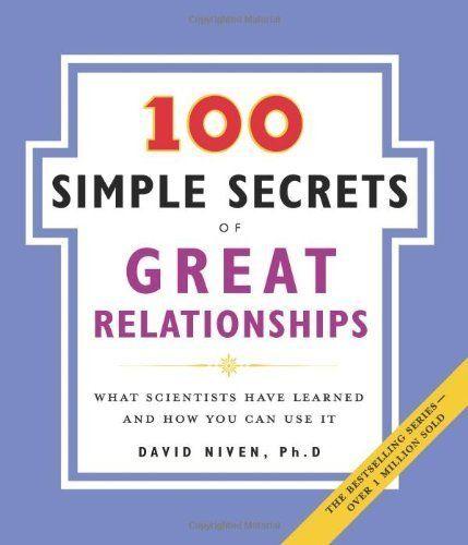 100 Simple Secrets of Great Relationships by David, PhD Niven, http://www.amazon.com/dp/B000FC10FM/ref=cm_sw_r_pi_dp_8cFyub17XYD1E