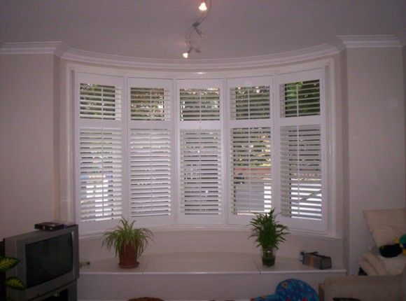 plantation shutters for bow windows | Shutters Gallery from B&Q and The California Company