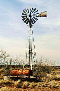 Aermotor windmill on the plains of Texas.