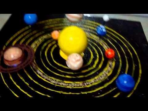 maqueta sistema planetario solar con movimiento colegio cesar vallejo 6091 - YouTube