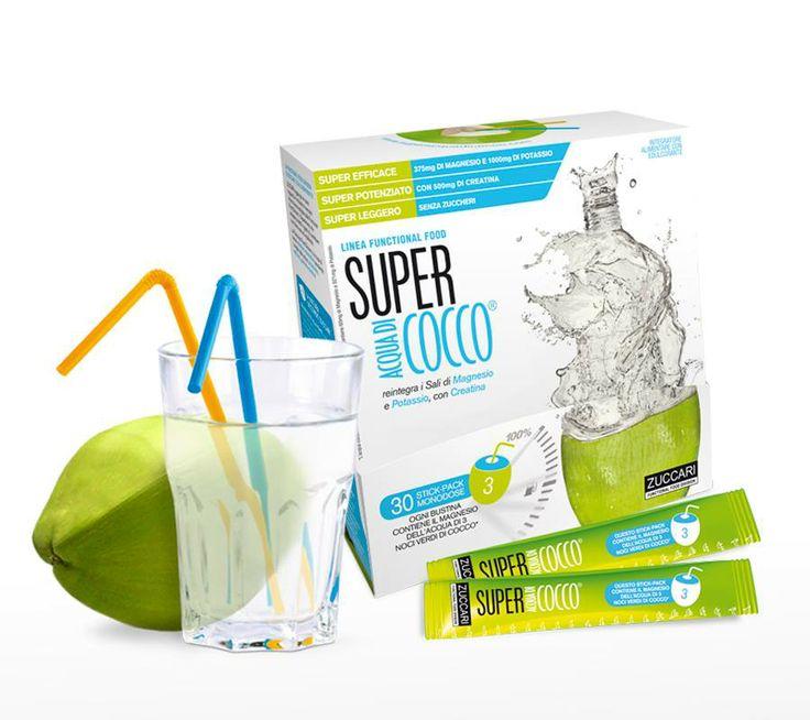 Zuccari Super acqua di Cocco - Acquista online su Amicafarmacia € 22,90  https://www.amicafarmacia.com/super-acqua-di-cocco-zuccari-30-stick-pack-monodose.html
