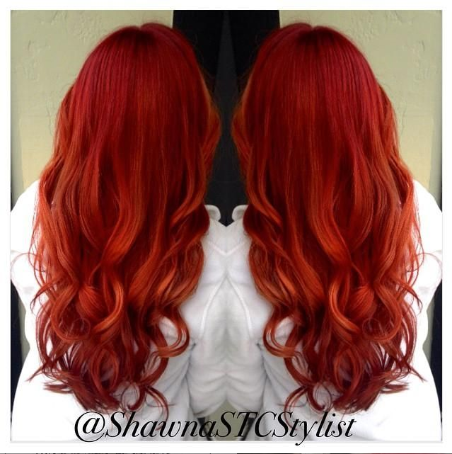 Stylist Shawna Lowrie created the red hot look with ...