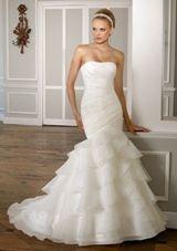 Bridal Dress: Mori Lee Bridal Collection: 1606 - Beaded Organza