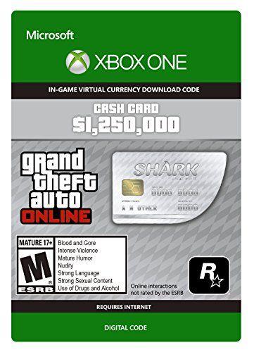 GTA V Great White Shark Cash Card - Xbox One Digital Code