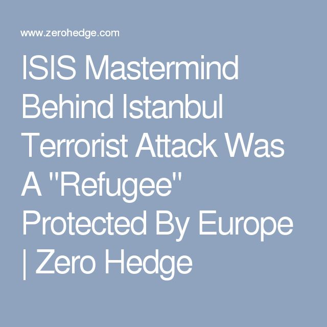 """ISIS Mastermind Behind Istanbul Terrorist Attack Was A """"Refugee"""" Protected By Europe   Zero Hedge"""
