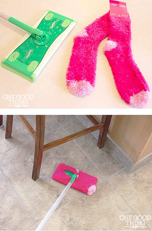 "Make Your Own Reusable ""Swiffer"" Pads and Cleaning Solution for PENNIES! 