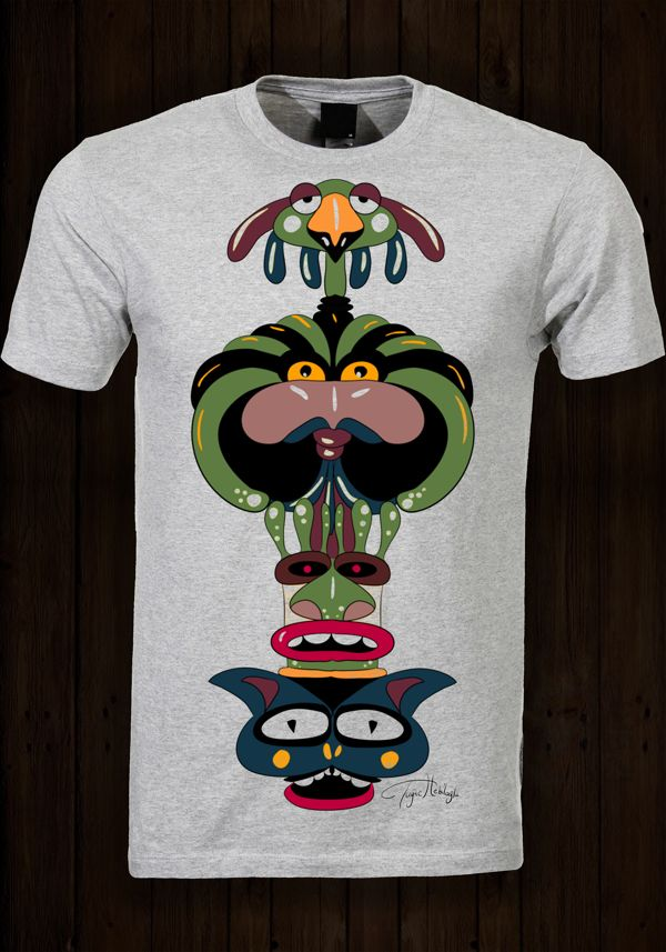 totem by tuğçe hebiloğlu, via Behance