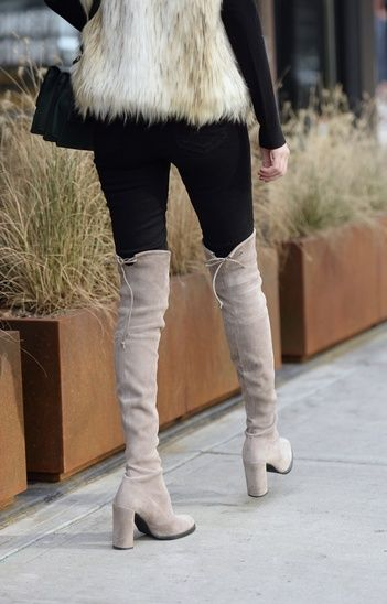 Running after Black Friday sales! These investment boots are currently on sale. This exact pair is The HiLine Boot in Medium Gray. #boots #otk #tuesdayshoesday #blackfriday #sale #suede #ShopStyle #ssCollective #MyShopStyle #ootd #fallfashion #mylook #lookoftheday #currentlywearing #todaysdetails #getthelook #wearitloveit #shopthelook