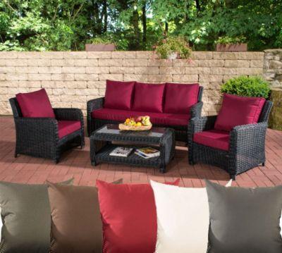 Ideal Poly Rattan Garten Loungem bel Set SAN FERNANDO ALU Gestell er Sofa Sessel Lounge Tisch x cm Jetzt bestellen unter