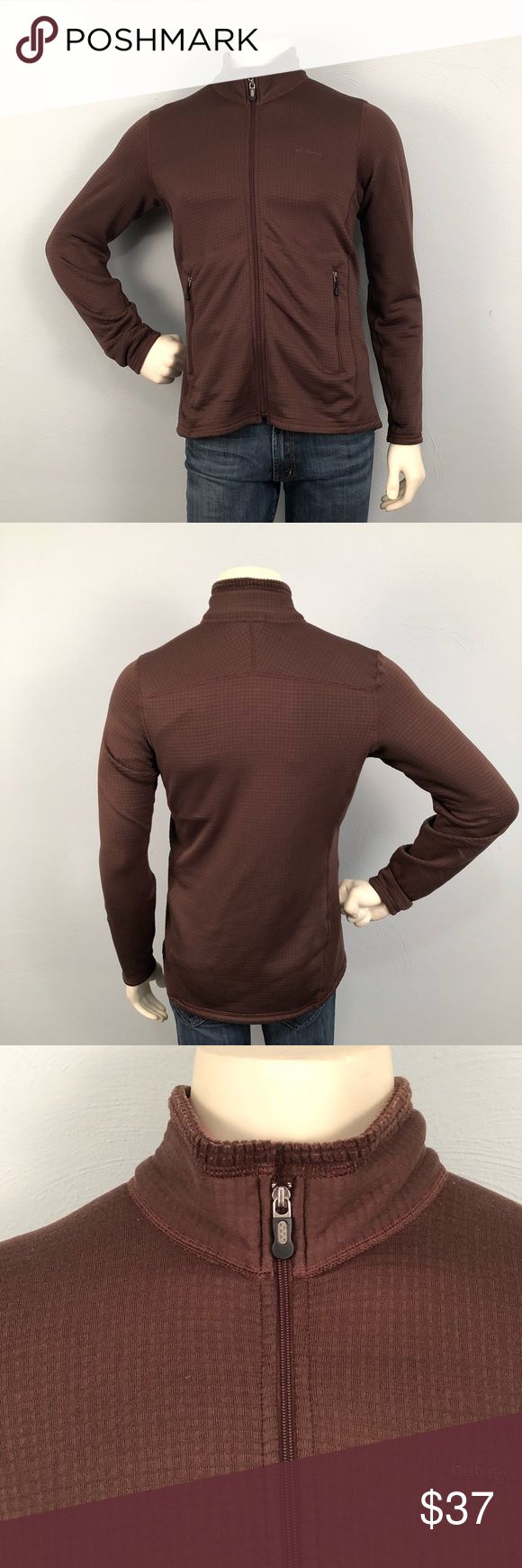 Patagonia Zip-Up Sweater size Large This Sweater Jacket is in great condition. There is an R embroidered on the arm that is barely visible and above that there is a couple dark spots in the fabric. Priced accordingly. Please feel free to ask further questions and all offers will be considered. Patagonia Sweaters