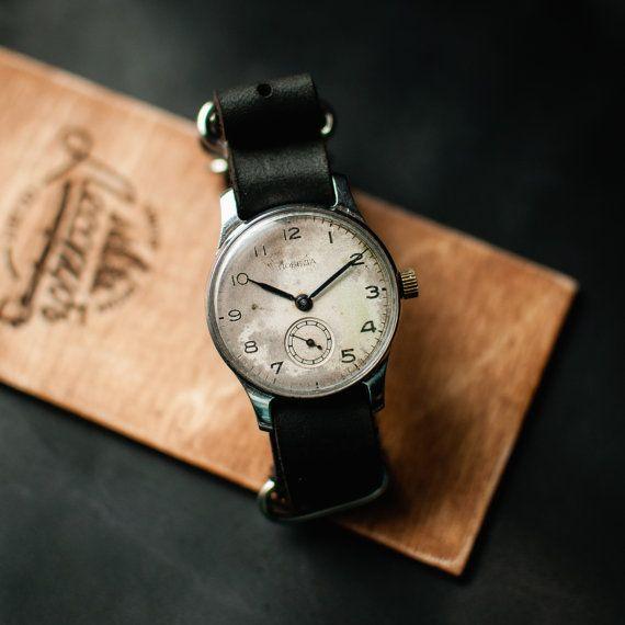 Soviet 50s wrist watch Pobeda, vintage mechanical watch, ladies watch, vintage mens watch, mechanical watch him, montre femme