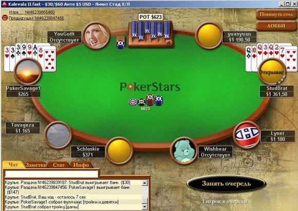 Все о покере: 7-карточный стад покер