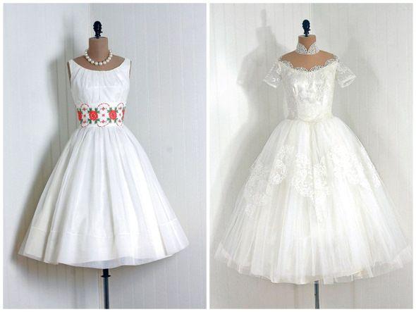 Свадебные платья в стиле 50-х годов