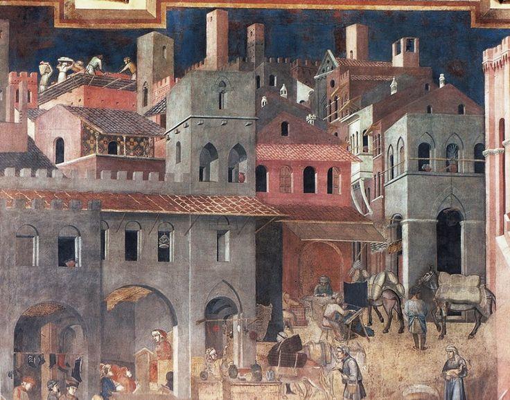 Ambrogio Lorenzetti. Allegoria ed effetti del cattivo Governo, 1338-1340  (Palazzo Pubblico, Siena).